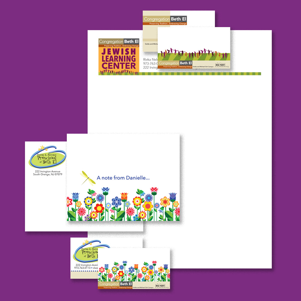 Stationery and business cards for youth program directors