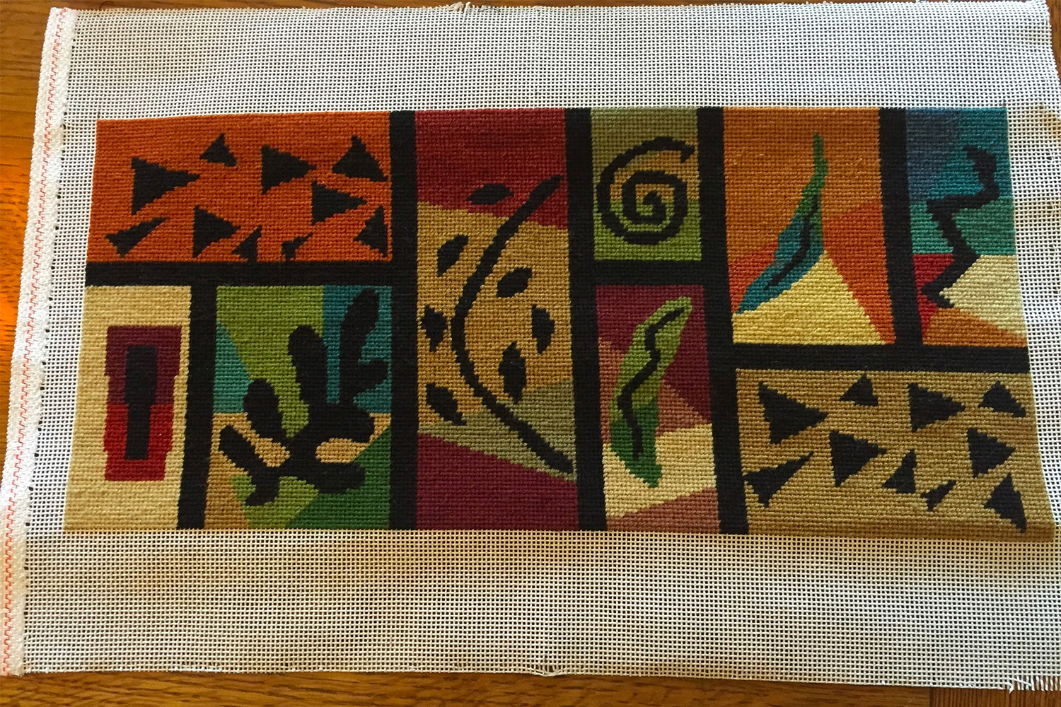 Completed lectern needlepoint