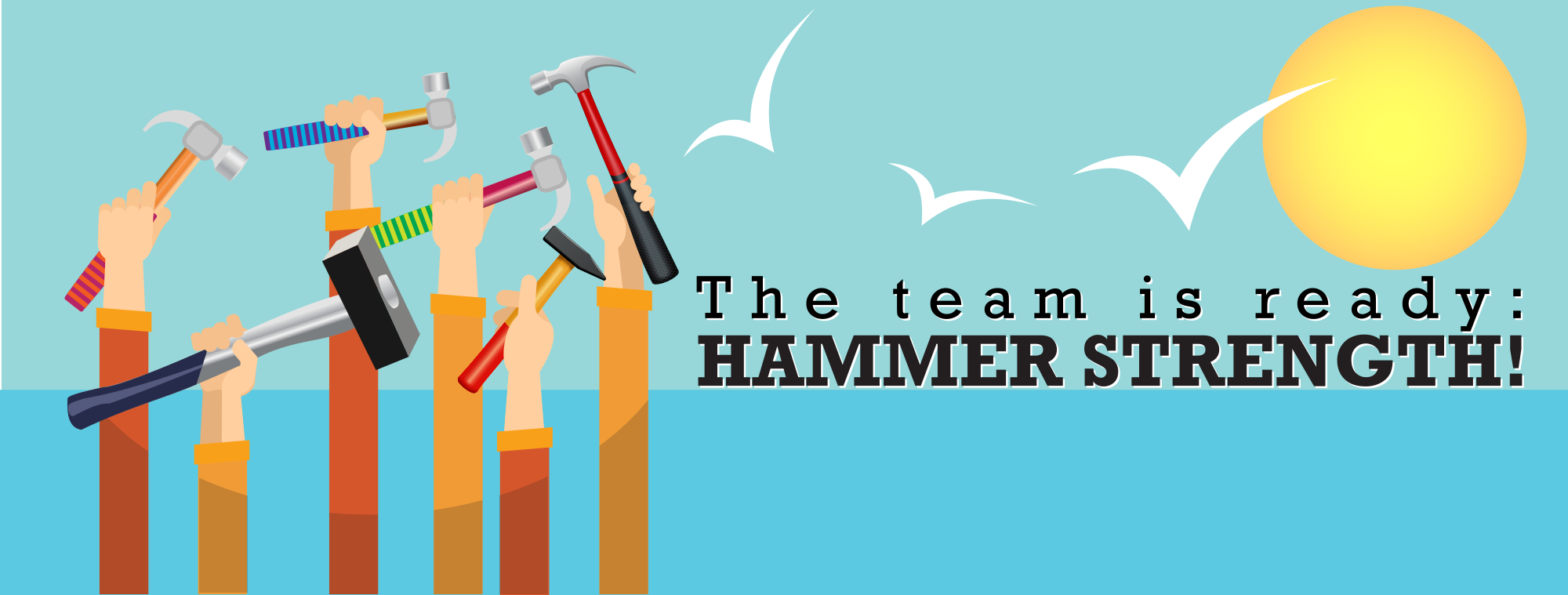 Header design for Hammer Strength FaceBook page