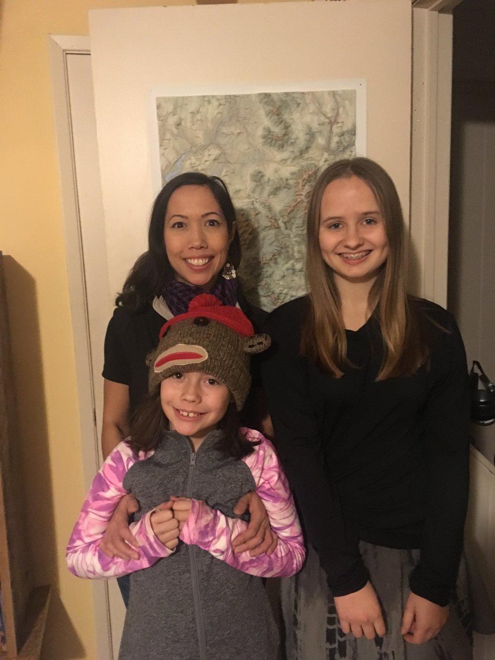 Bella Dalzell, her mom Jen, and Alex