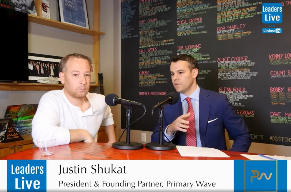 Justin Shukat, CoFounder & President at Primary Wave Entertainment -