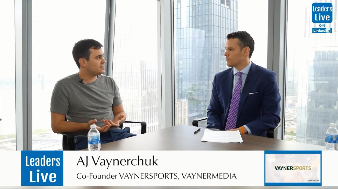 AJ Vaynerchuk, CoFounder VaynerSports - CoFounder VaynerMedia | Partner VaynerRSE