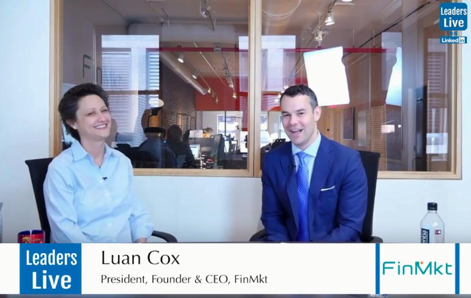 Luan Cox, Founder CEO & President, FinMkt -