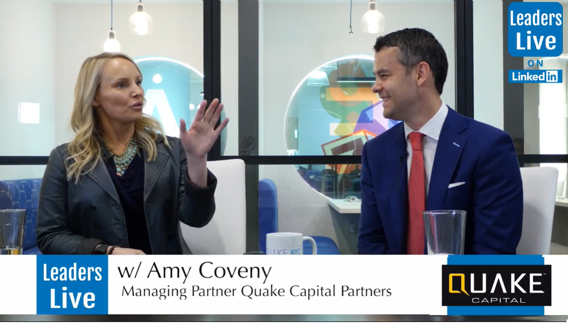 Amy Coveny, Managing Partner Quake Capital -