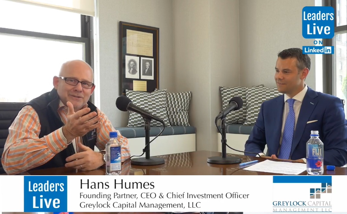 Hans Humes, CEO Founding Partner Greylock Capital -