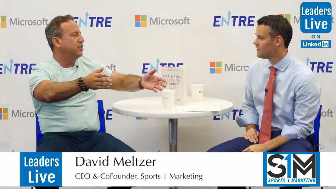 David Meltzer, CEO & CoFounder Sports 1 Marketing - Live from Microsoft at the ENTRE Event
