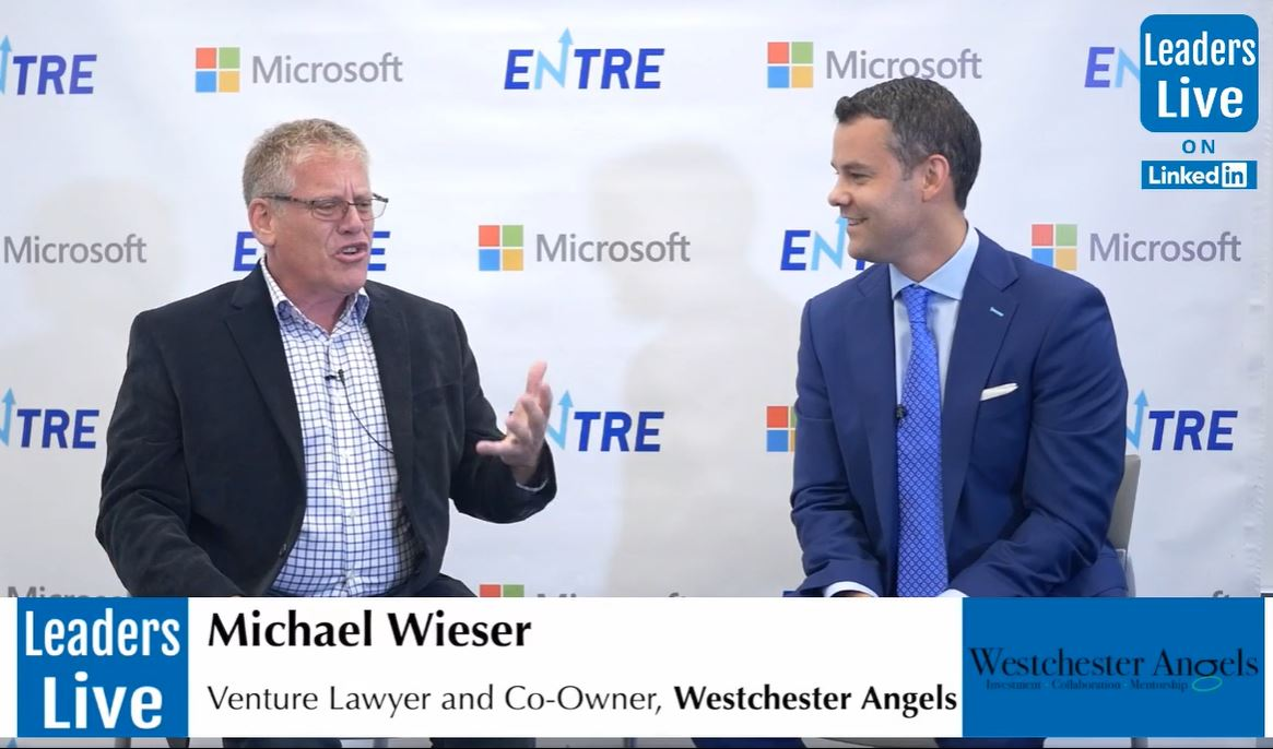 Michael Wieser,Co-Owner Westchester Angels - Venture Lawyer | Entrepreneur | Investor