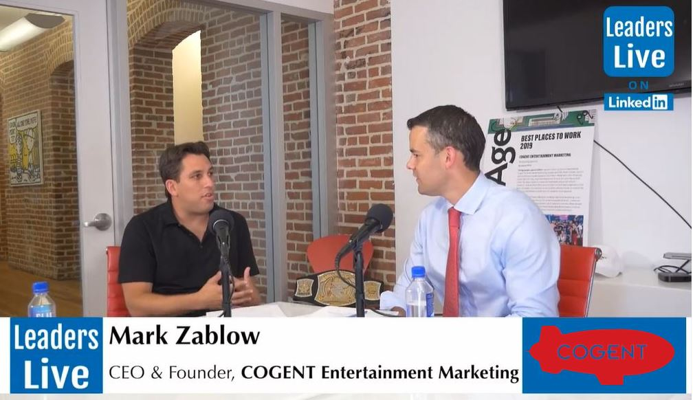 Mark Zablow, CEO & Founder Cogent Entertainment -