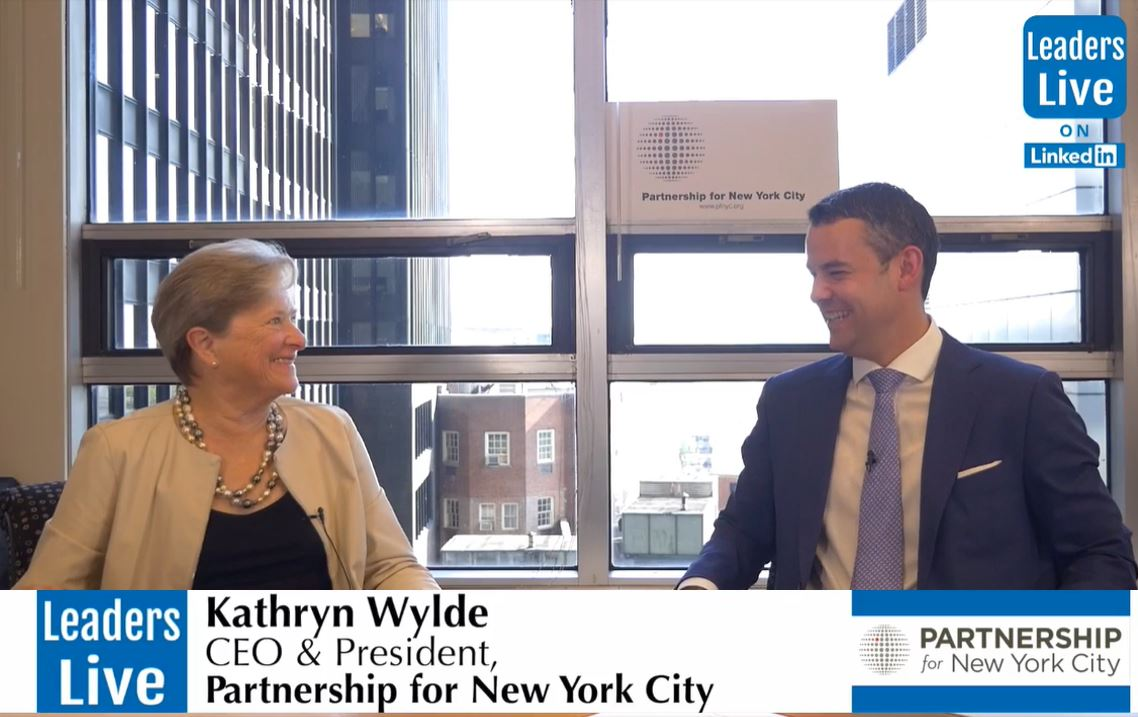 Kathy Wylde, CEO Partnership for NewYorkCity -