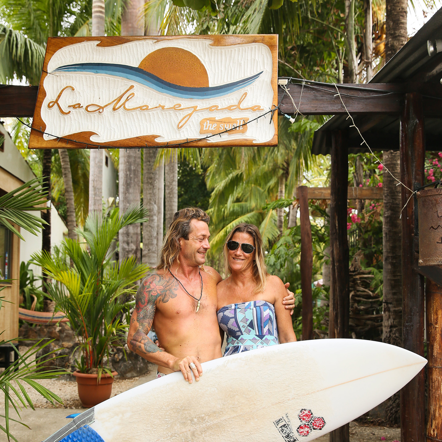 GAIL + MARCO - Owners of hotel y restaurante la marejada + our momPlaya Grande is one of the most consistent surf breaks in Costa Rica located in the northern province of Guanacaste. It is a marine sanctuary created to protect giant leatherback turtles that lay their eggs along the dunes here. The beach is four miles long with waves in both directions creating the perfect place to learn to surf.