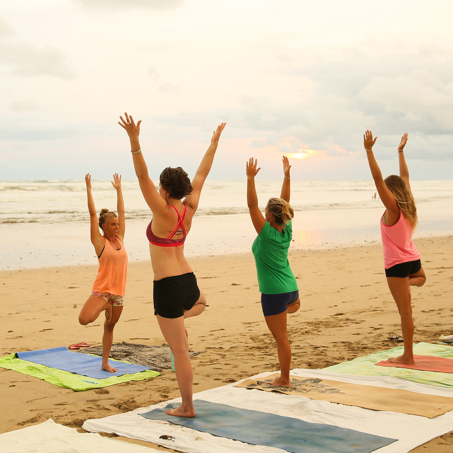 YOGA - We offer yoga classes everyday of the retreat. Our instructor will be teaching a Iyengar and Vinyasa flow with a focus flexibility, balance and breath-based yoga poses that help prepare your body before surfing and/or restorative poses for after surfing.