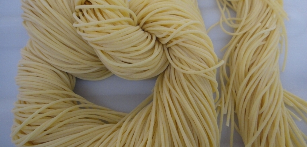 no egg (vegan)  fresh pasta - made with golden Wheatlet flour and water.