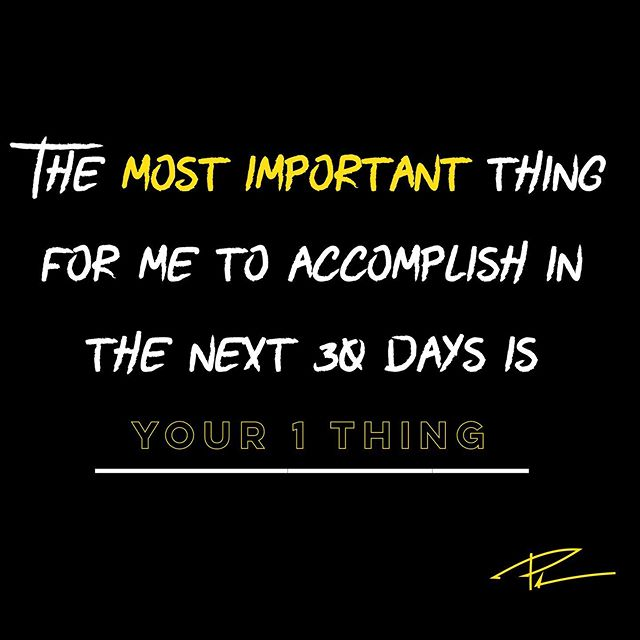Accountability creates a 225% higher chance of success! 😱 So let's get accountable. Let's share our most important goal over the next 30 days. Not 3 things, not 2 things, but 1 thing. Our most important goal! 👈🏻 And make sure it is: ✅ Specific in what it is ✅ Able to be measured ✅ Something you can complete in 30 days ✅ Important to your current success  Then share it in the comments…make a declaration! Put it down for others to see. Get a little vulnerable. 🔥🔥 My most important goal in the next 30 days is_____________________  #Goals #goal #accountability #business #success #health #fitness #mindset #relationships #commitment #happy #work #habits