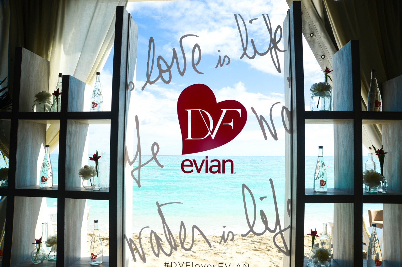 evian x DVF Limited Edition Bottle Launch