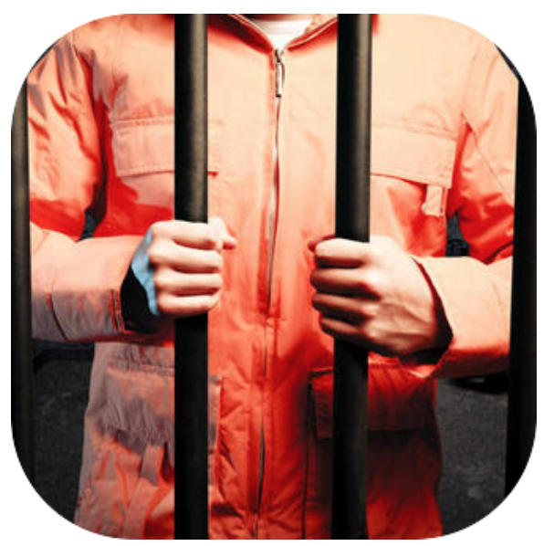 Image of a Prisoner standing behind jail cell bars.png