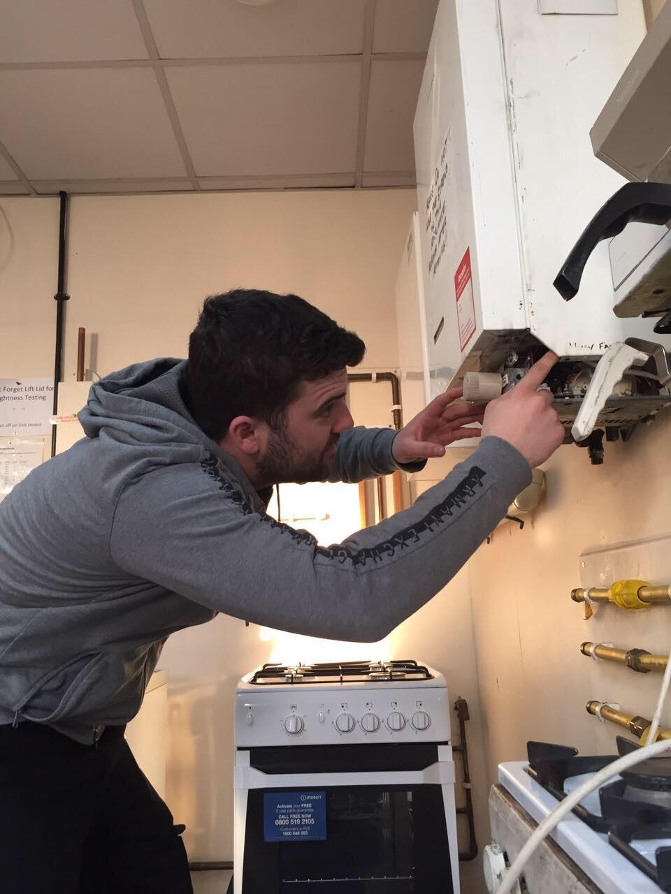 boiler fixing