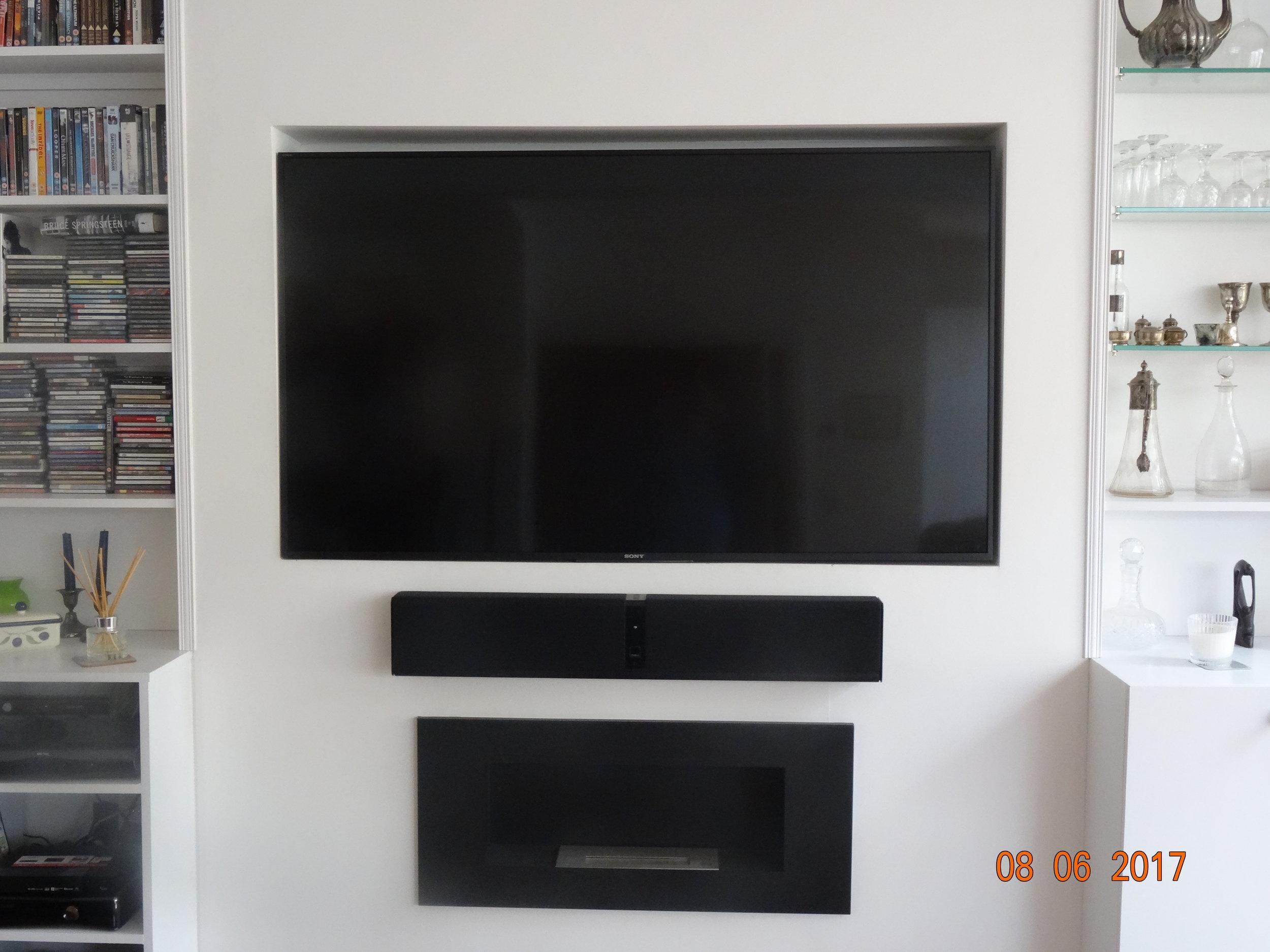 TV and sound bar installation