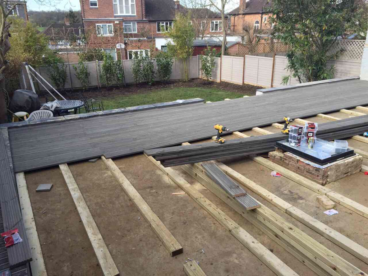 Laying decking