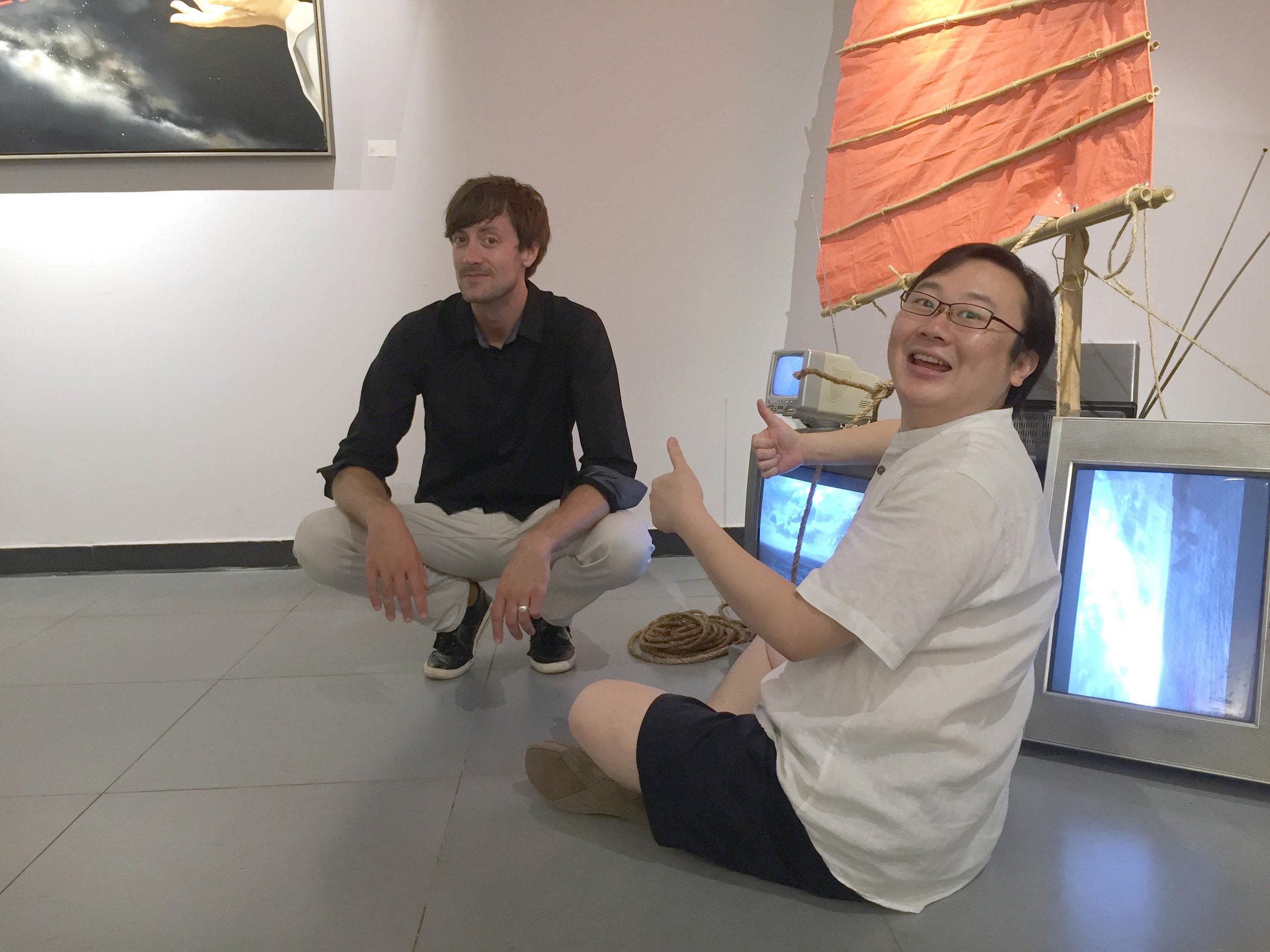 Artists Xu Fan and Joe Hedges