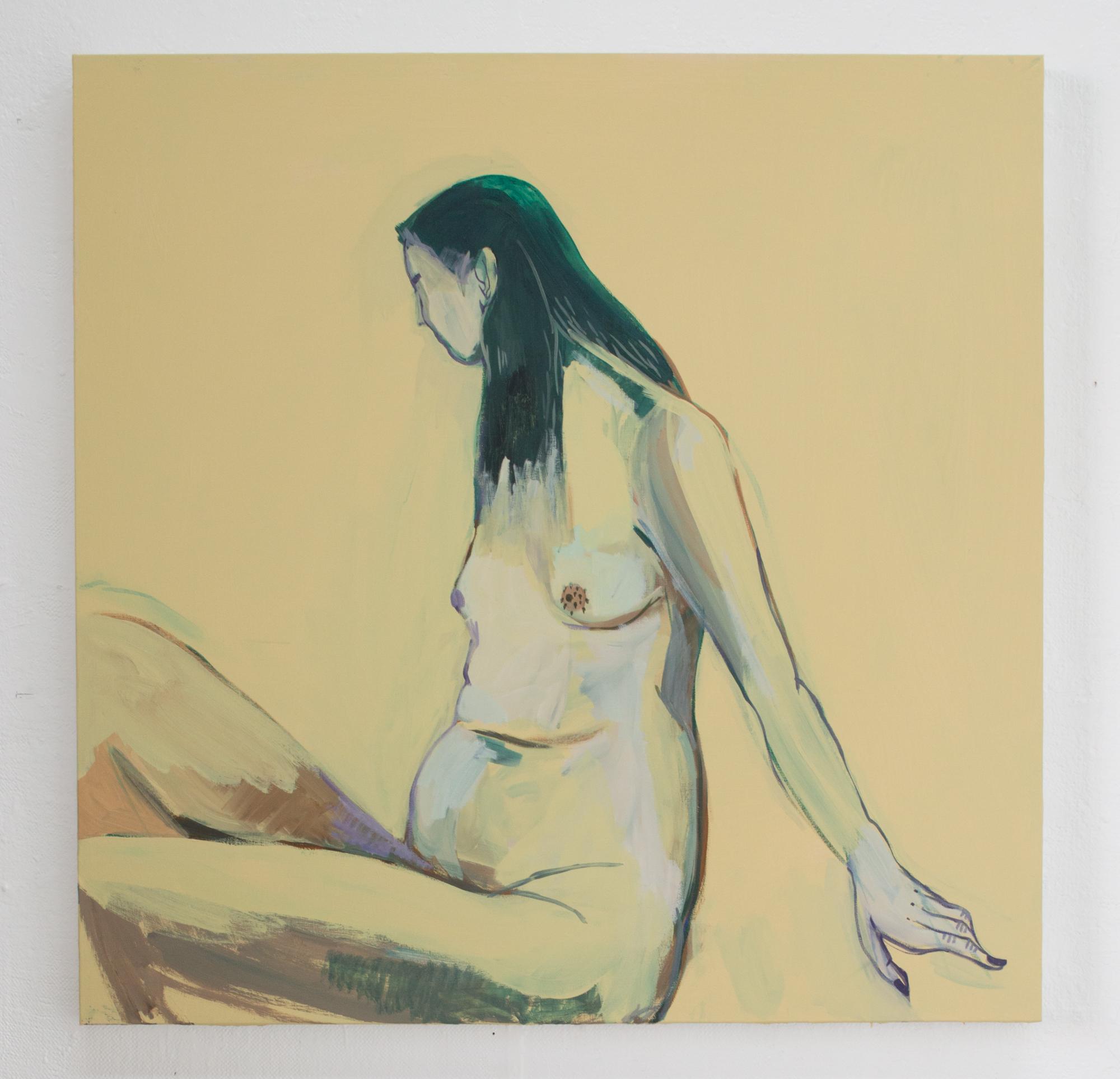 yellow   Acrylic on canvas  48x48  2018