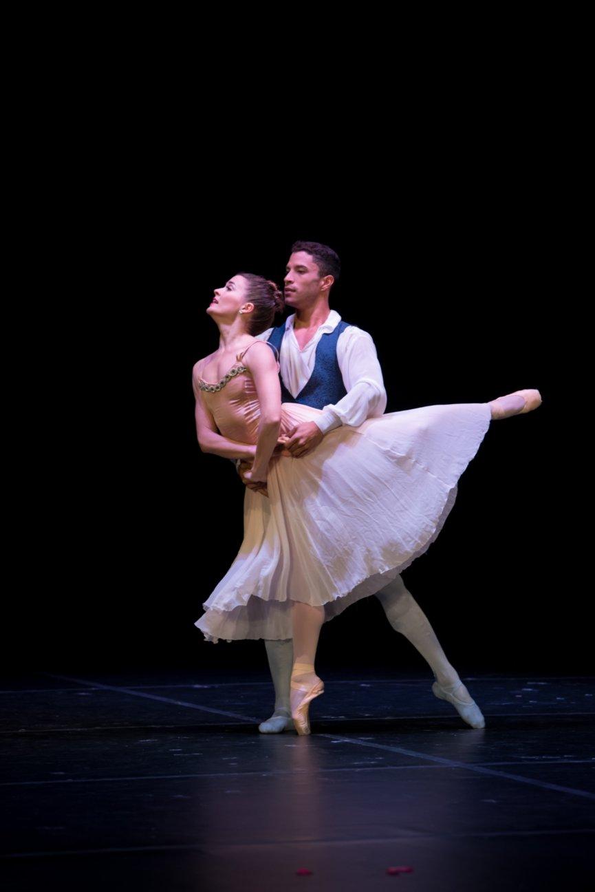 Lily Ojea Loveland and Aaron Melendrez, Ballet Palm Beach, performing Tchaikovsky Pas De Deux, a Balanchine Ballet.