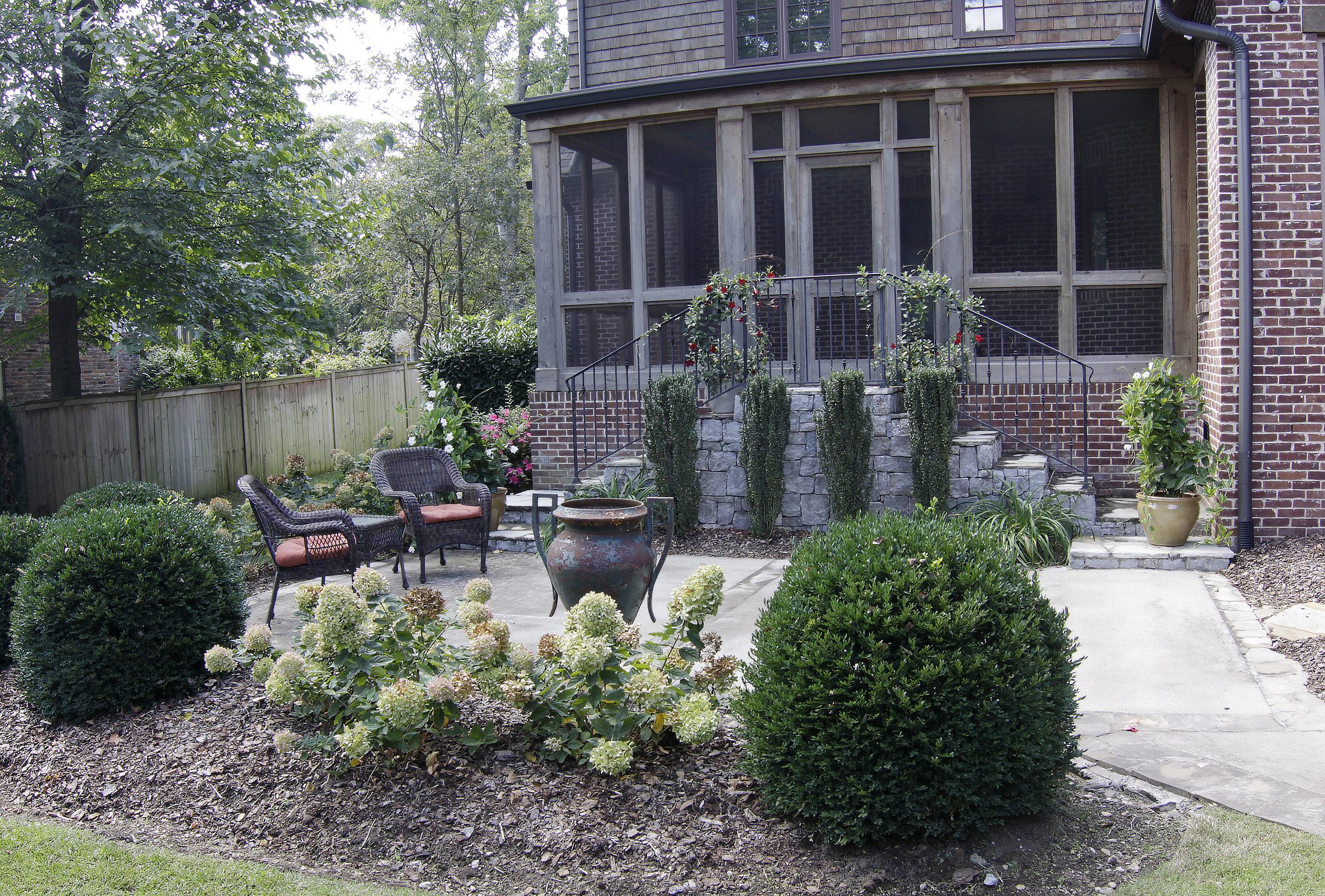 Enjoy the lush outdoor patio!