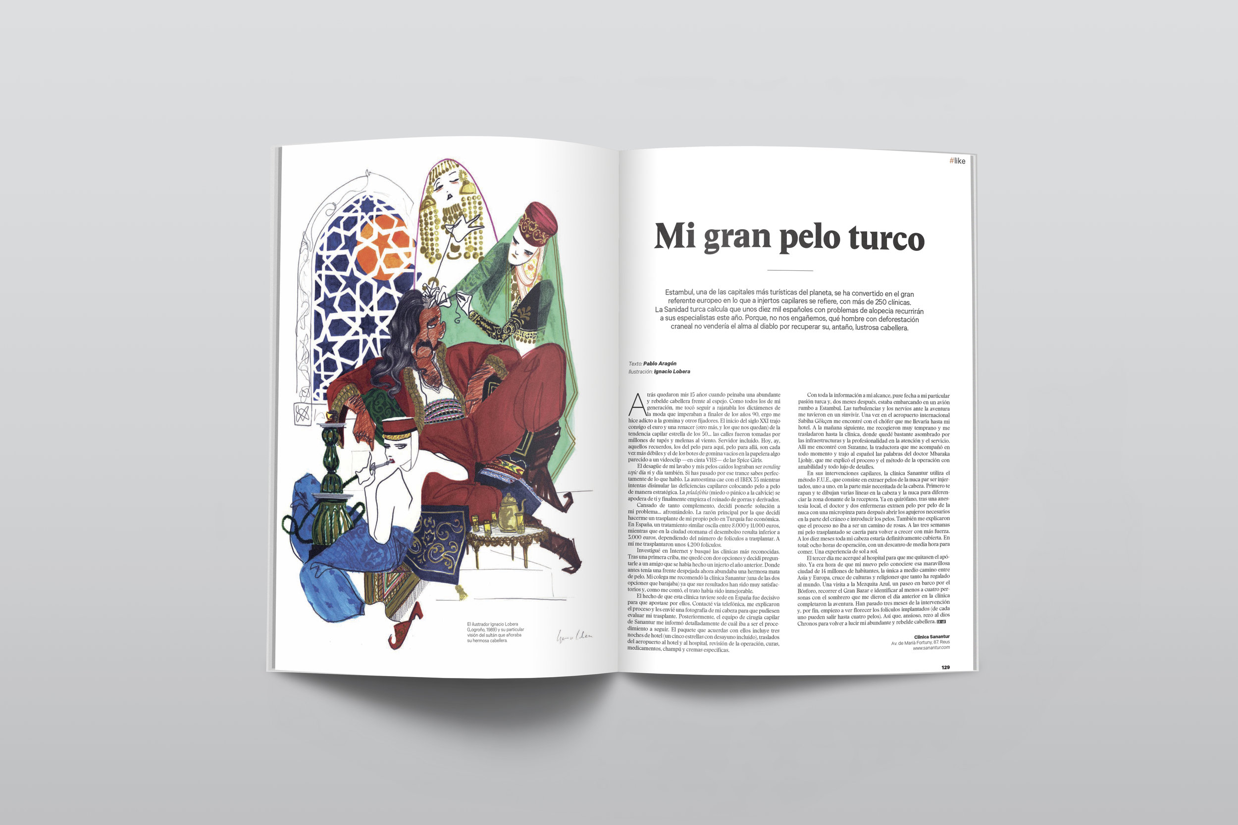 Sueño turco. Ilustración para Dear magazine, diciembre 2017