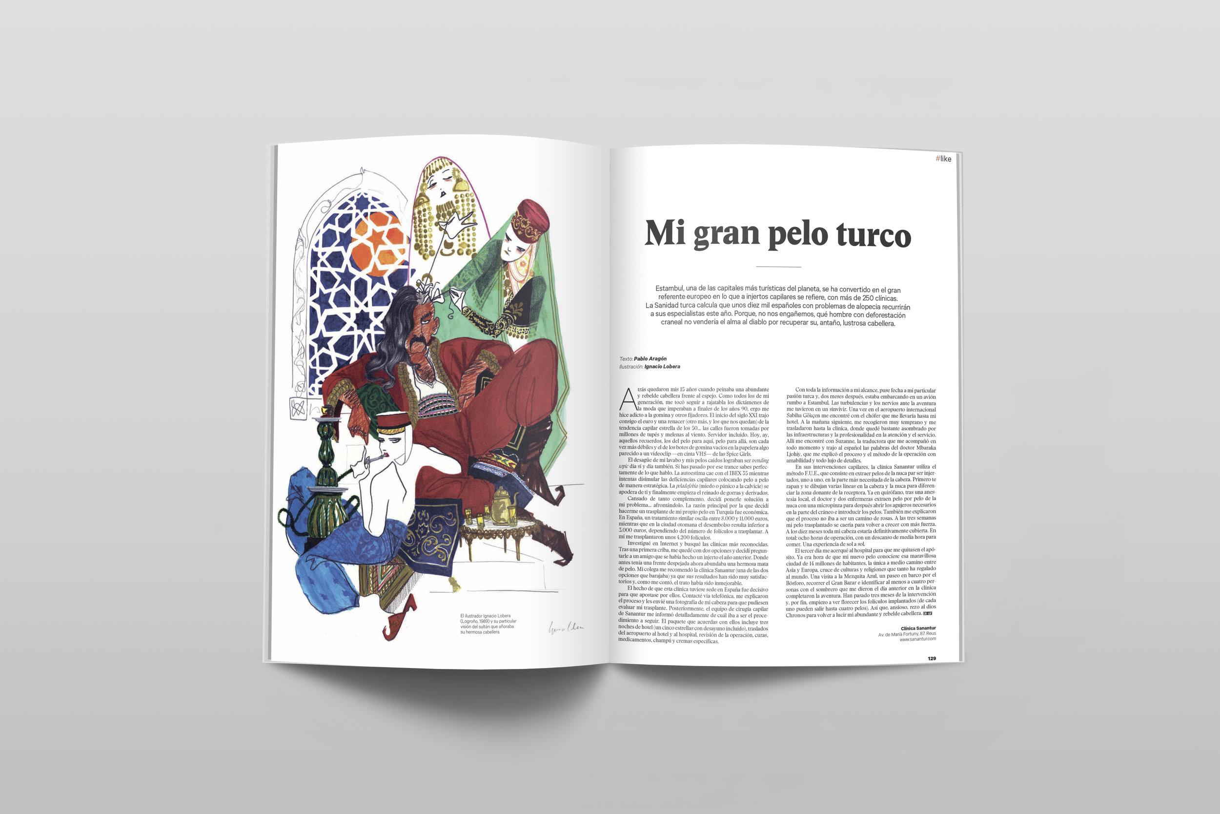Sueño turco. Ilustración para Dear magazine. Septiembre 2017
