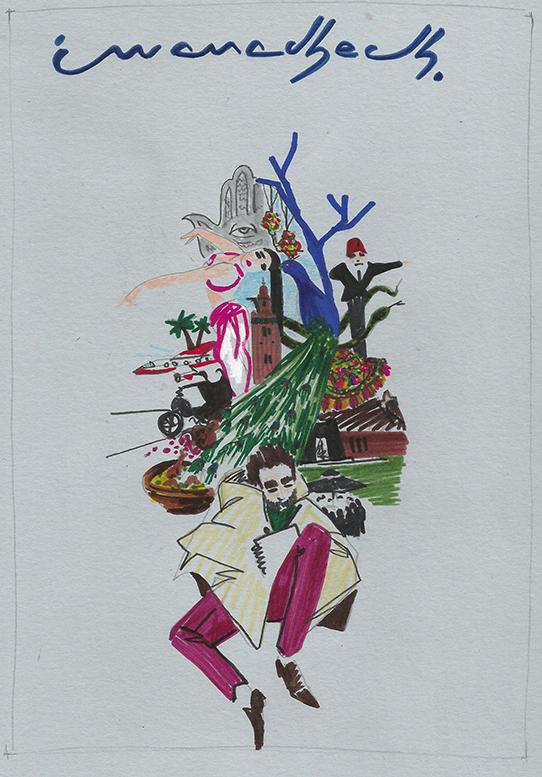 Boceto para Destino ilustrado. Por Ignacio Lobera