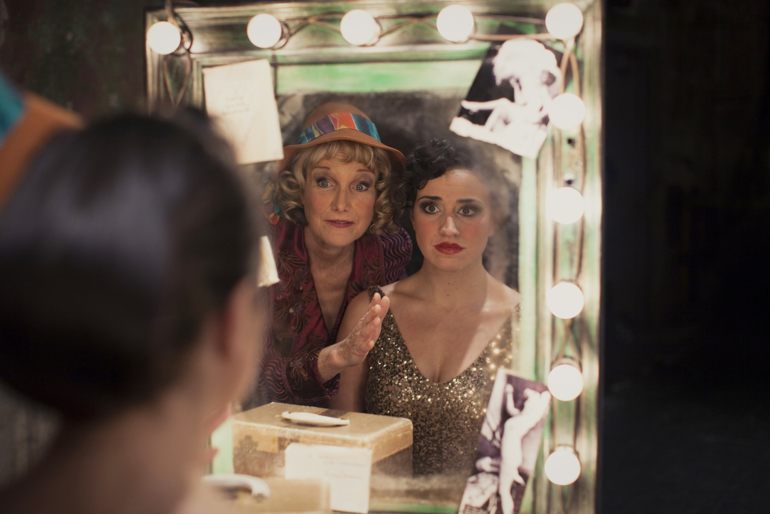 Michelle Barber as Mama Rose and Cat Brindisi as Gypsy Rose Lee, Photo by Joe Dickie