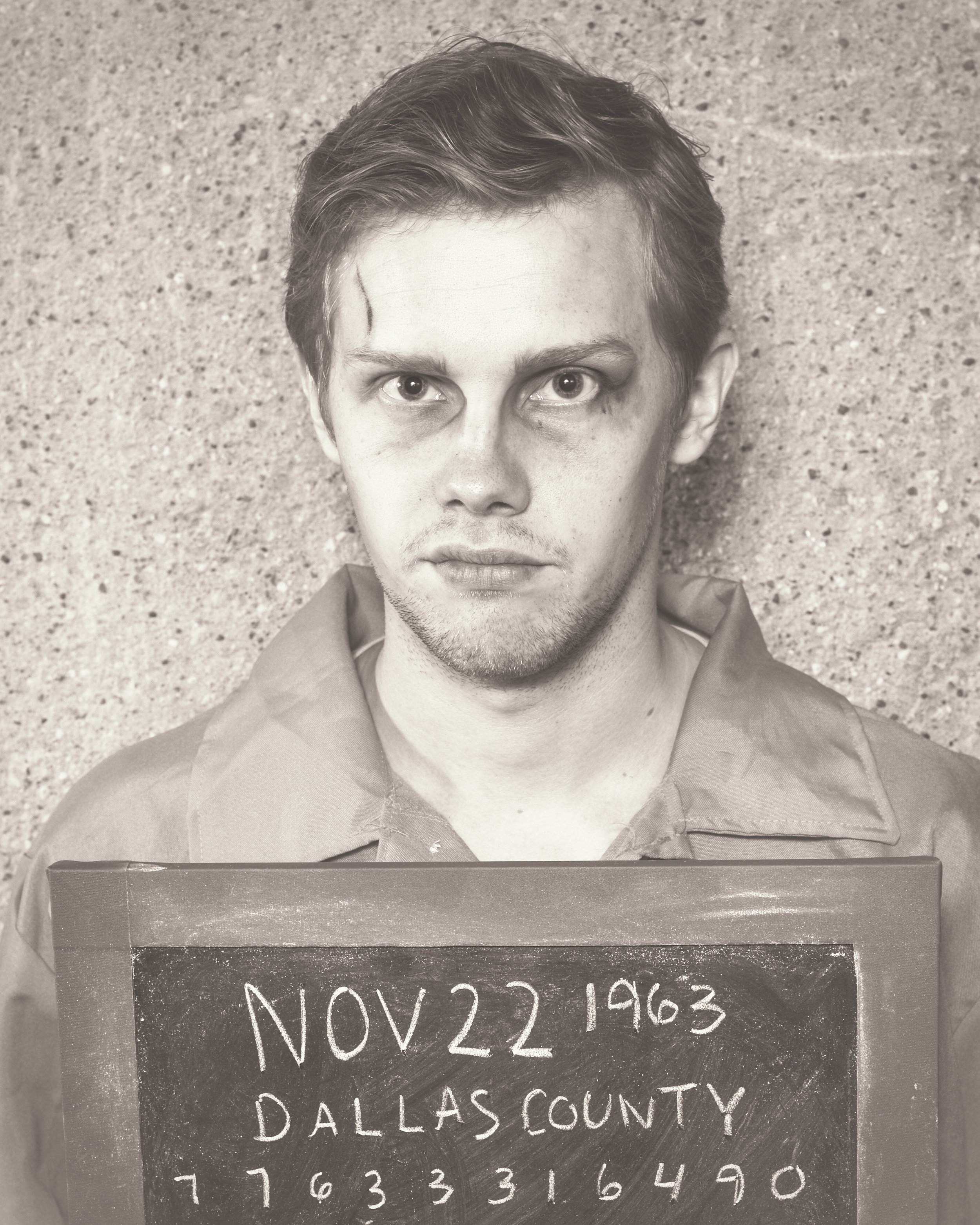 Tyler Michaels as the Baladeer/Lee Harvey Oswald, Photo by Allen Weeks