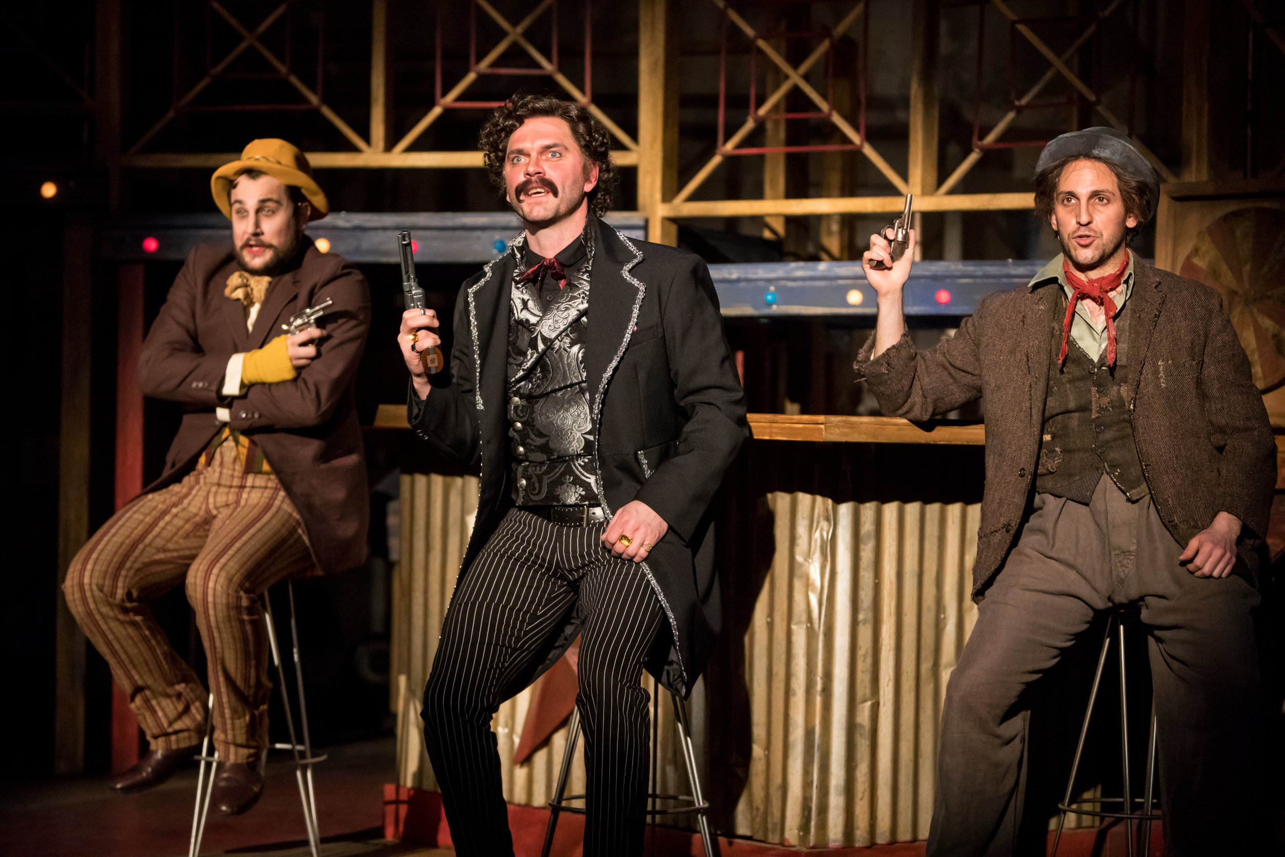 Benjamin Dutcher (Guiteau), Dieter Bierbrauer (Booth), and Rodolfo Nieto (Czolcosz), Photo credit Dan Norman