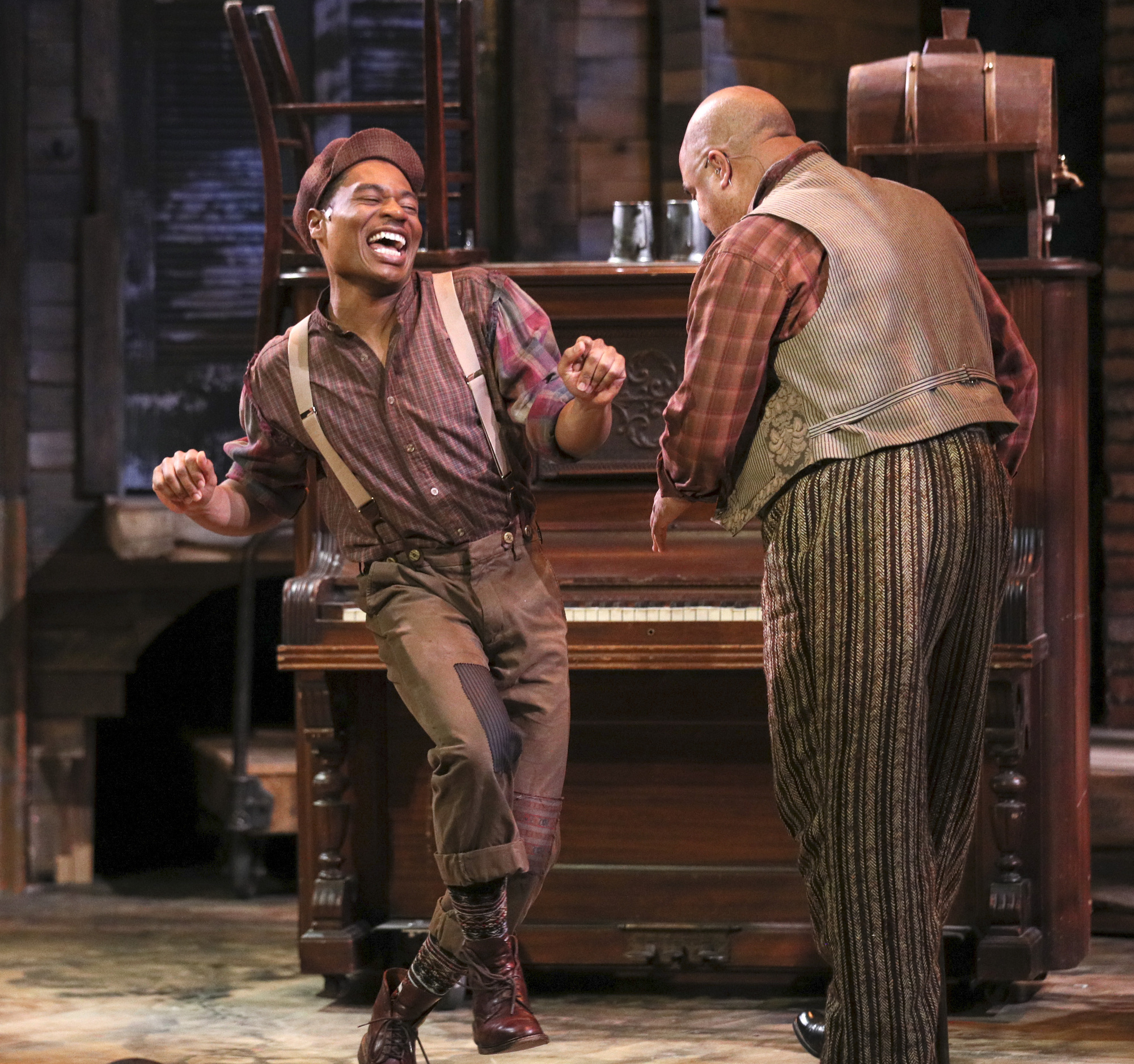 """John Jamison and T. Mychael Rambo rehearsed """"Five Points,"""" premiering this week at Theatre Latté Da. Photo by Brian Peterson."""