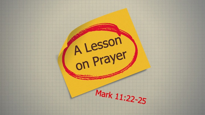 A Lesson on Prayer