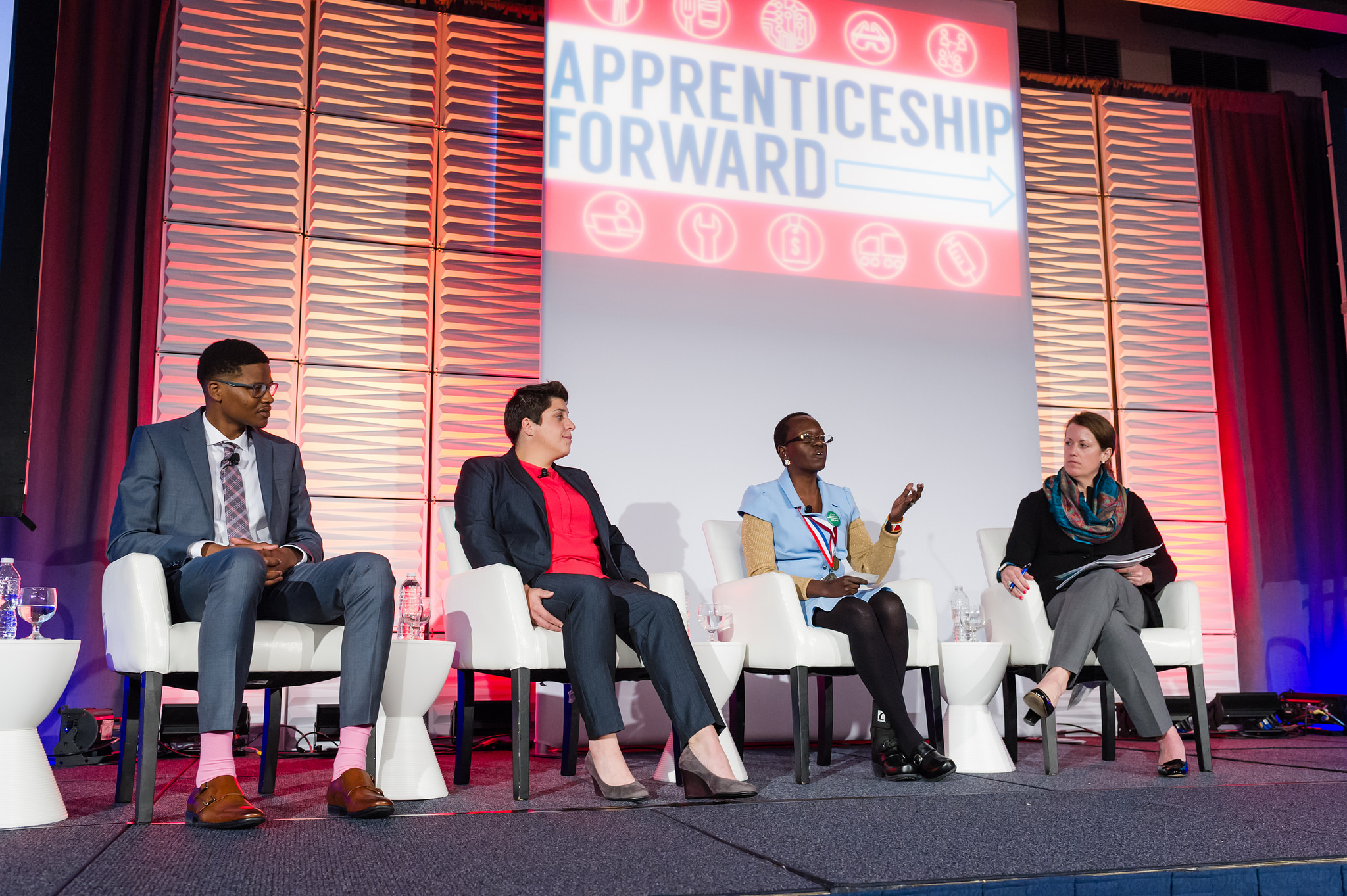The apprentices panel at the Apprenticeship Forward national conference, May 4, 2017.