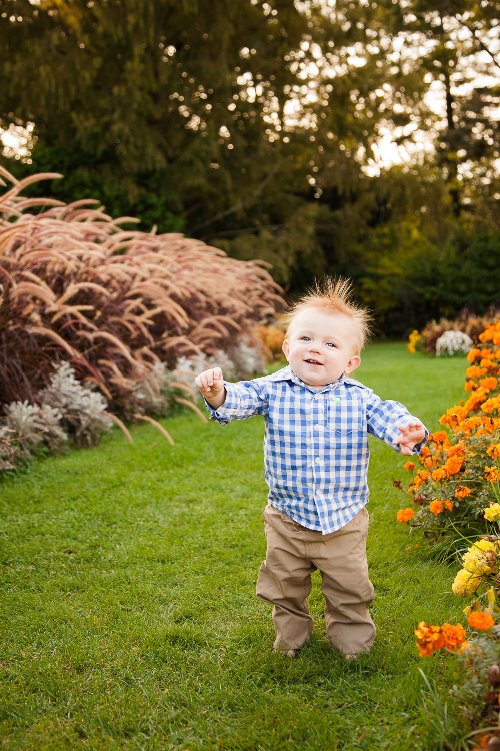 Erin Wood Photography Central CT child Photographer one year old boy in park walking