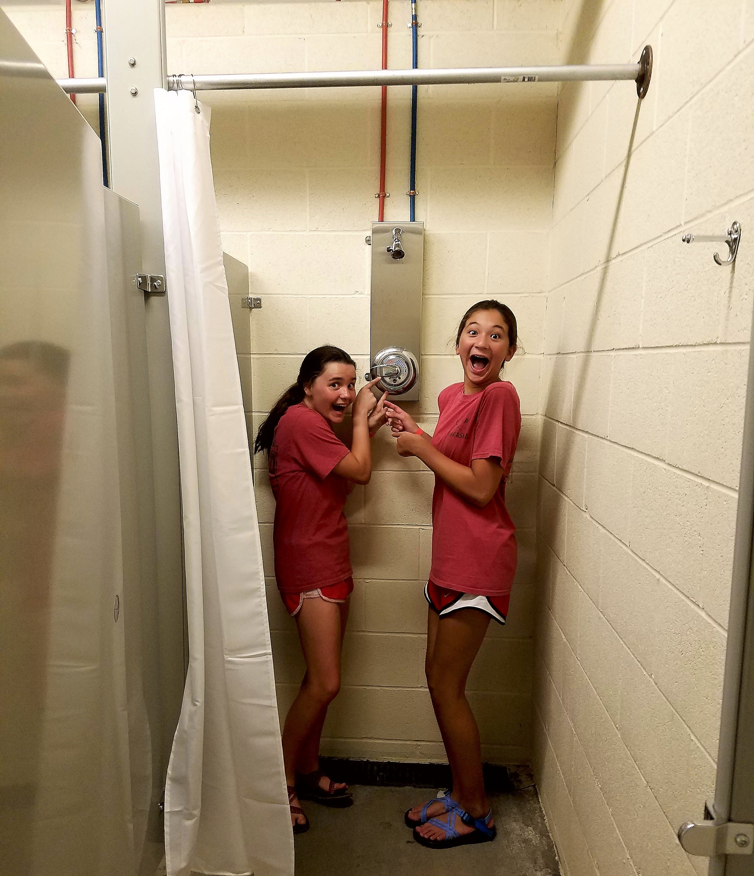 Campers were thrilled to have entirely new bathhouses in 2017!