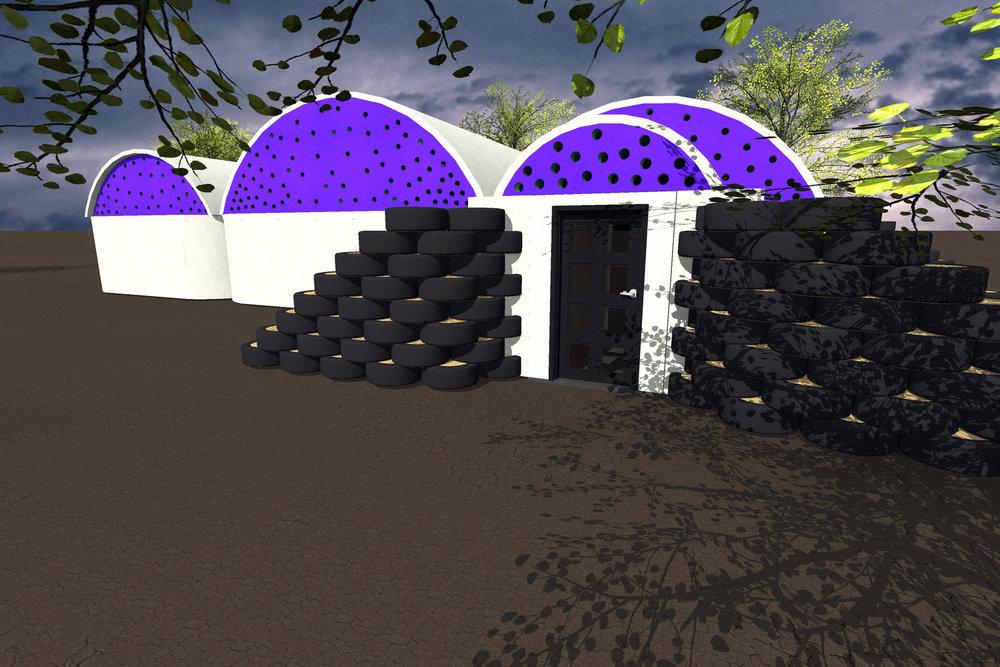 tire vault house -