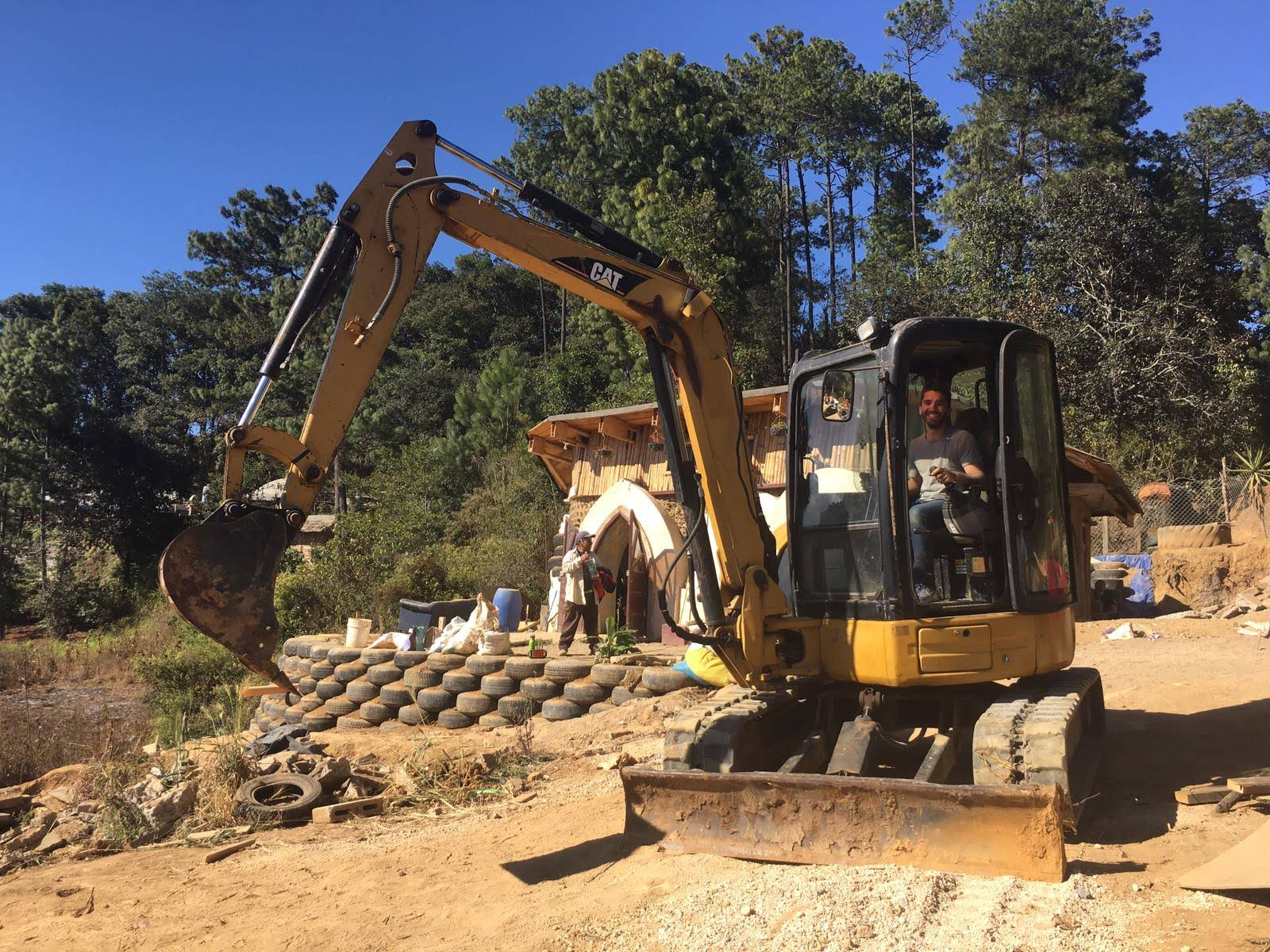 Ask us about learning how to use our excavator! -