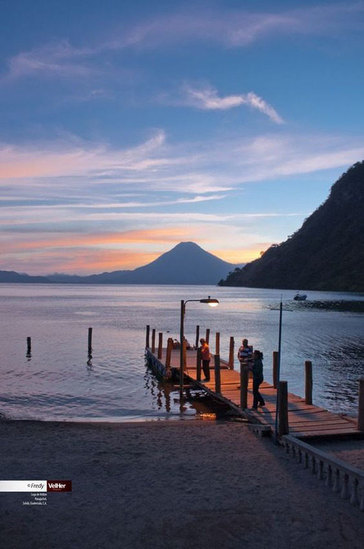 Lake Atitlan and its volcano views.