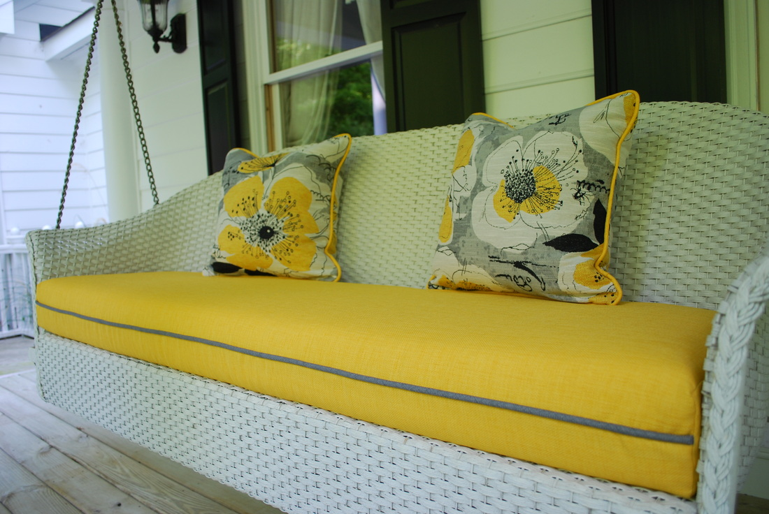 Seat cushion and pillows