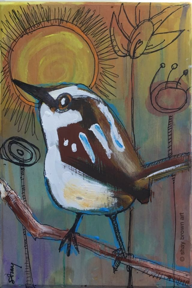 Carolina Wren  Mixed Media