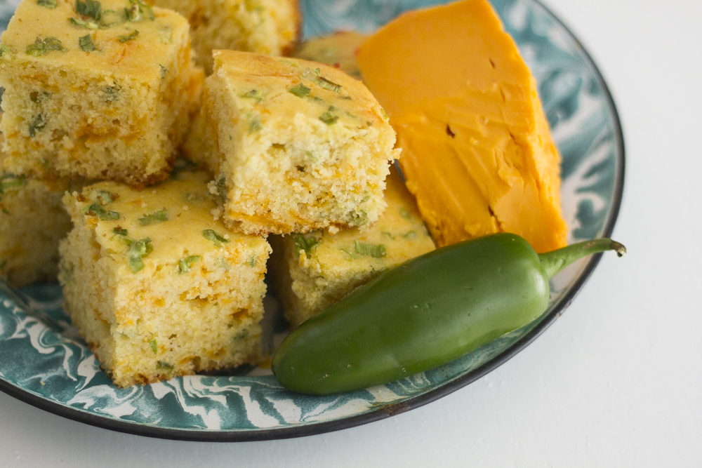 Bodacious Breads! - This is a fantastic alternative to sweet cornbread. The layering of flavors is important here – The sautéed onions, the garlic, the cheese and finally the heat of the jalapeño all come together to provide a perfect side dish to any chili! Frankly, it's good all by itself!