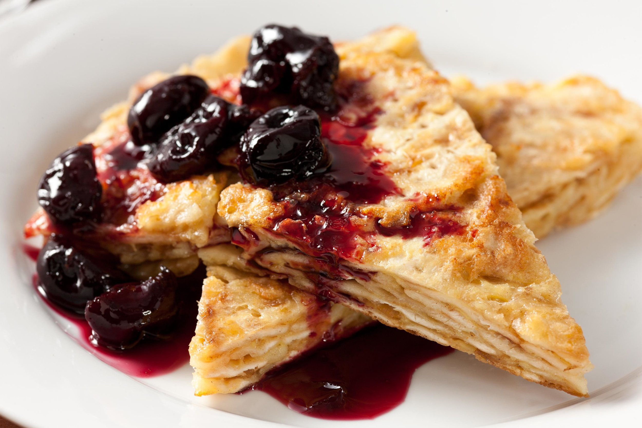 Seasonal & Holiday Eats! - This phenomenal start to a Pesach morning is a kicked up version of the classic. It can be served with any jam of your liking, maple syrup, cinnamon sugar, or just as is. It requires more work than the conventional version, but it's well worth it!