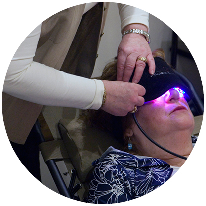 A LED Light Therapy session (photo).