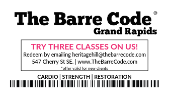 The Barre Code Grand Rapids Logo (Photo).