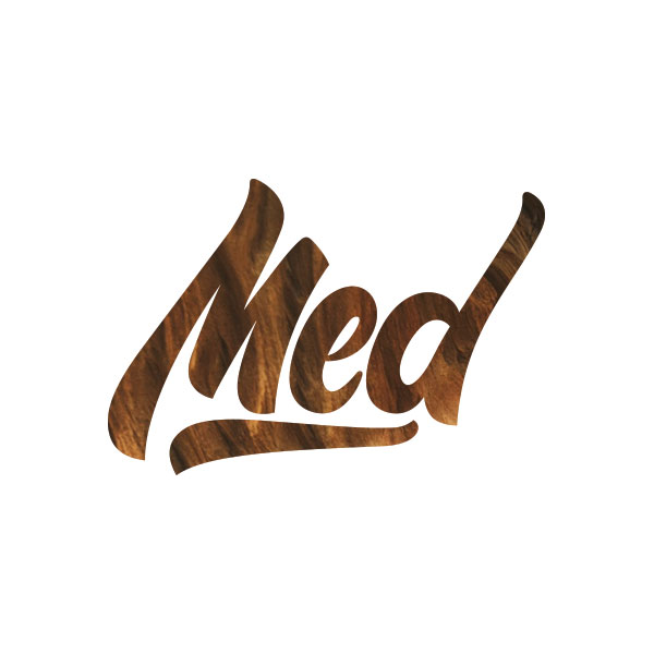 Med - This logo taps into a youthful and urban market just like the example above, however, it is done through custom made typography. Applying slight movement to the name gives it an energetic appearance.