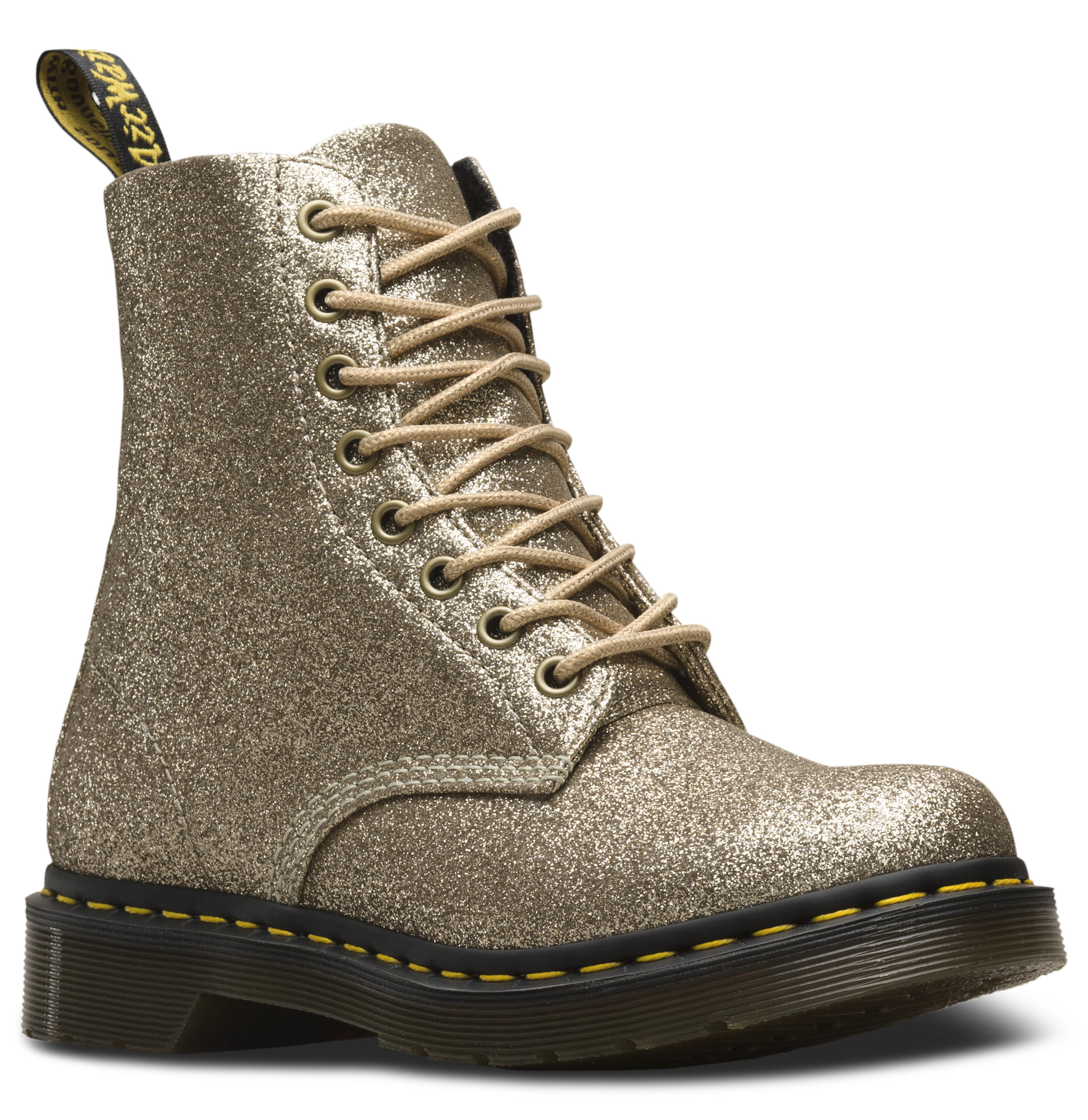 Dr. Martens 1460 Pale Gold Pascal Glitter