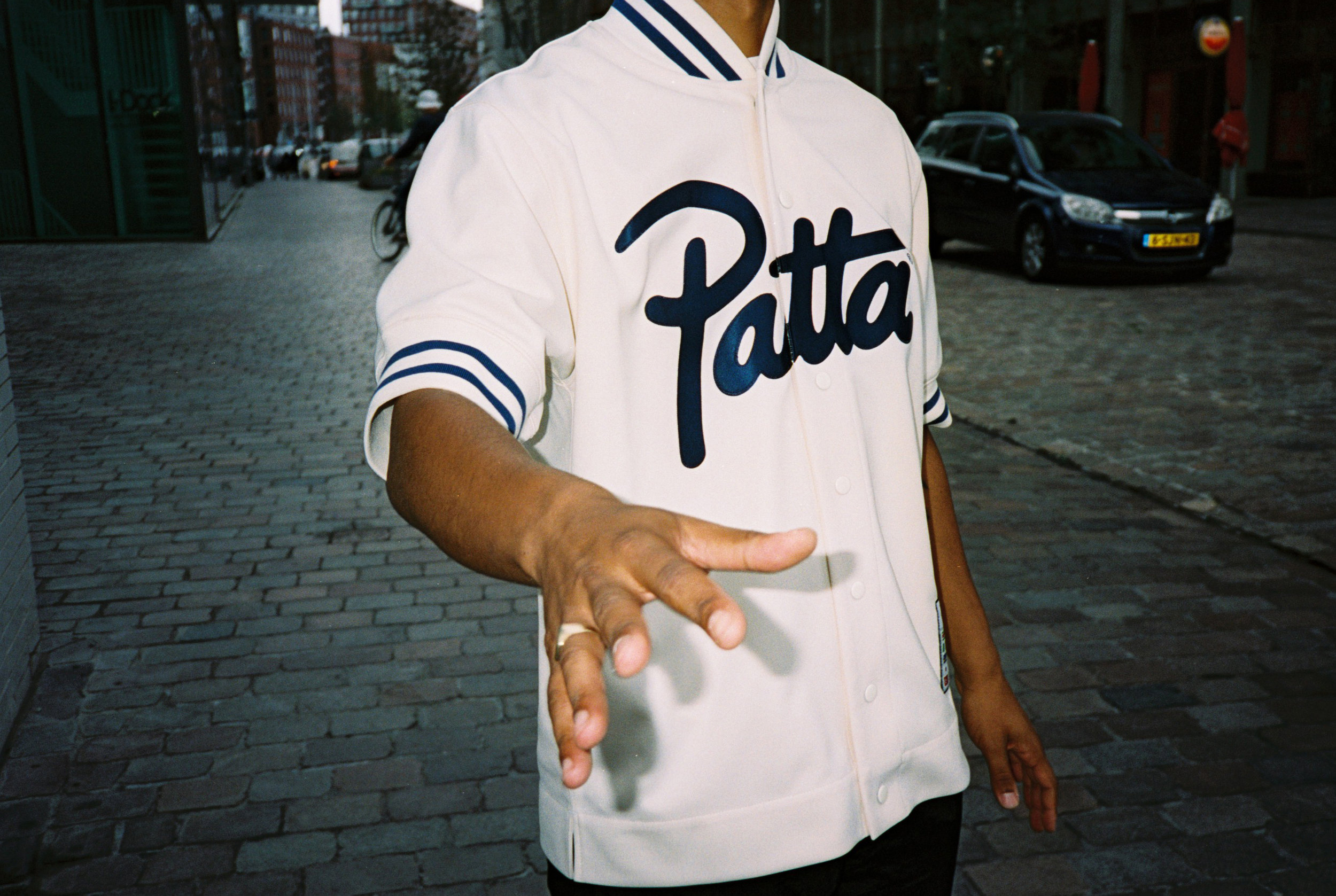Patta x Mitchell & Ness Shooting Shirt (Seedpearl)