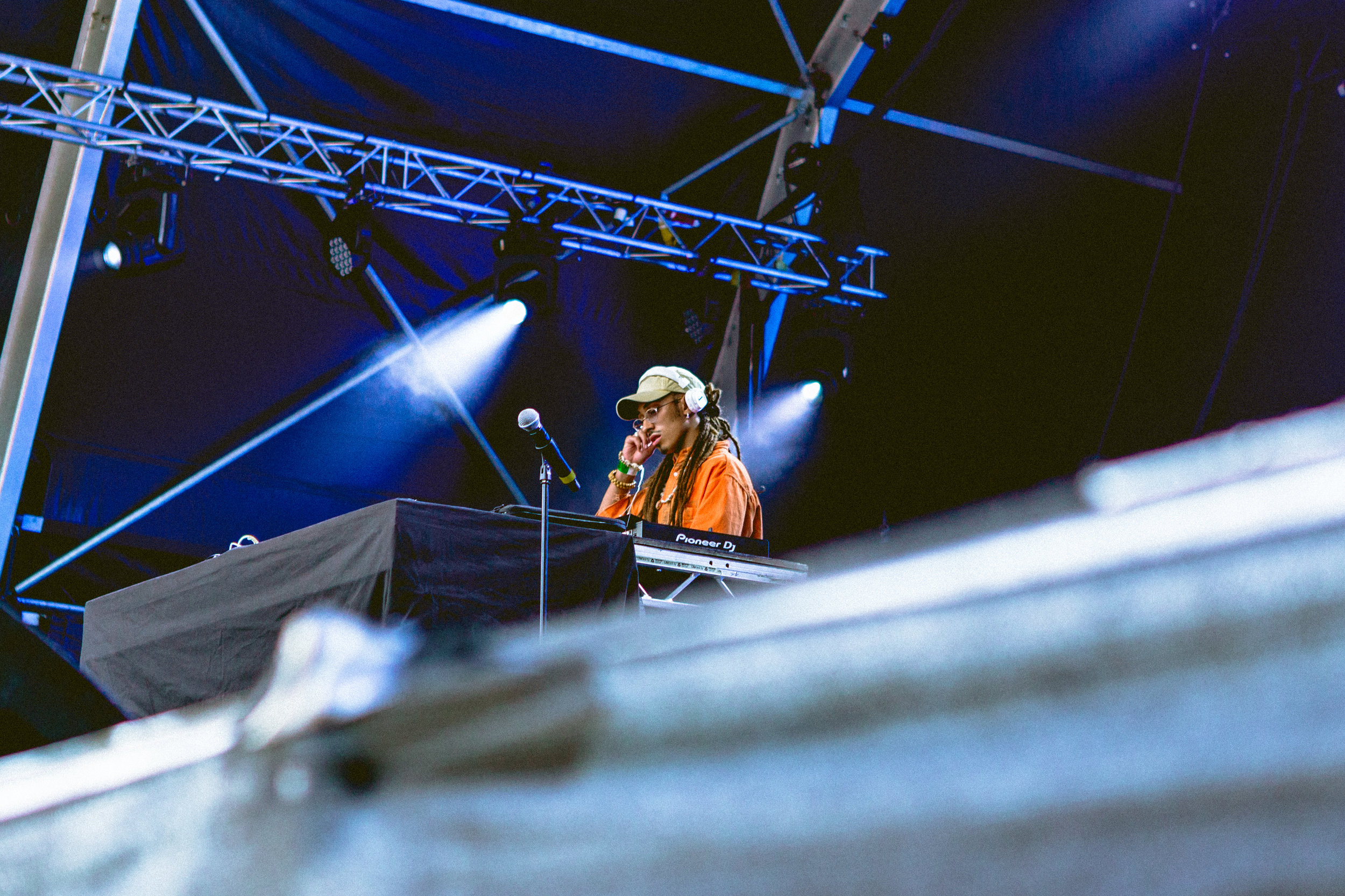 Shaka Lion DJing at Somerset House: Summer Series with Soulection | Photography by Rianna Gayle